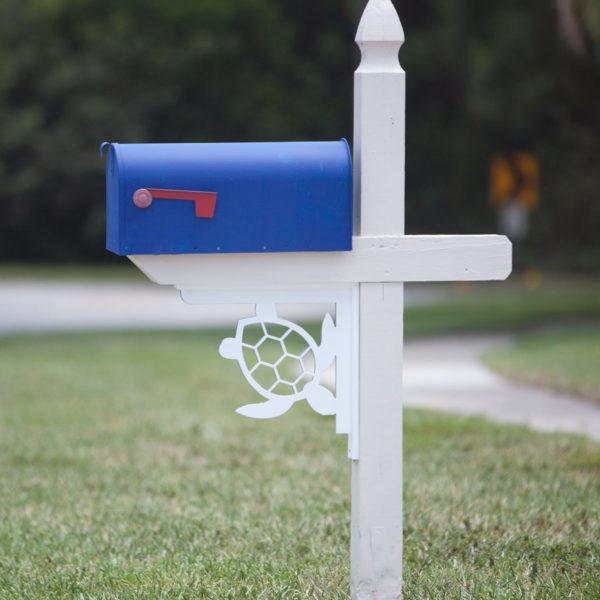 sea turtle corbel on mailbox