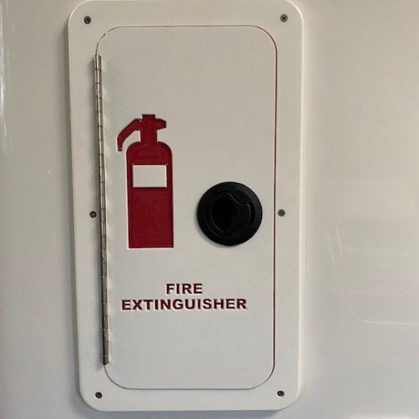 Fire Extinguisher Black Latch