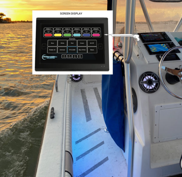 shadow caster marine multi function display LED lighting