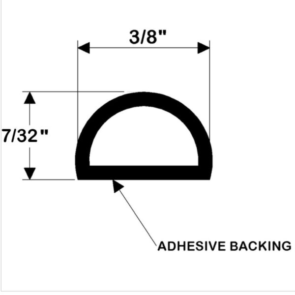"""Gasket for Livewell Lid 7/32"""" x 3/8"""""""